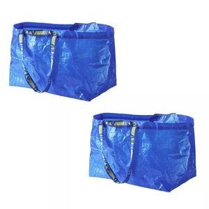 2 IKEA SHOPPING BAG NEW LARGE REUSABLE  - FRAKTA